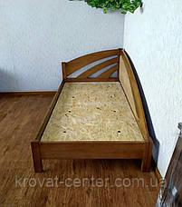 """Деревянная полуторная кровать с мягкой спинкой """"Радуга Люкс"""" от производителя, фото 3"""