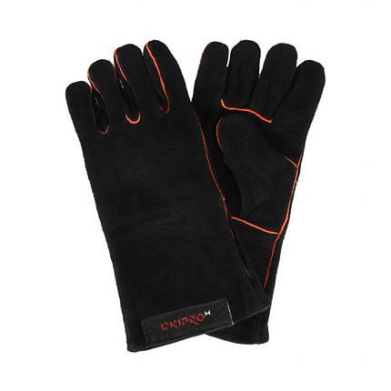 Перчатки сварщика Dnipro-M Чёрные, фото 2