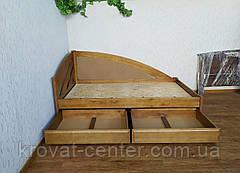 """Кровать полуторная с мягкой спинкой """"Радуга Люкс"""" и с выдвижными ящиками, фото 2"""