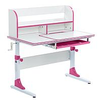 Парта трансформер растущая 100х60 см с надстройкой для детей 5 - 15 лет ТМ Cubby nerine Pink