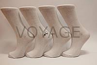 Женские носки высокие стрейчевые гладкие Житомир 35-41 белый, фото 1