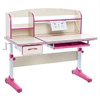 Парта трансформер растущая 120х60 см с надстройкой для детей 5 - 15 лет ТМ Cubby Ammi Pink