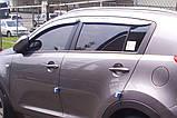 Дефлекторы окон (ветровики) хромированные KIA SPORTAGE 2010- (A477), фото 10