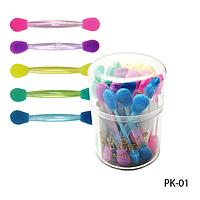 Аппликаторы PK-01 для теней двусторонние в стакане цветные  (25 шт в уп)  Lady Victory