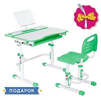 Комплект растущей мебели Парта 80х60 см и стул для детей 3 - 15 лет ТМ Cubby Botero Green