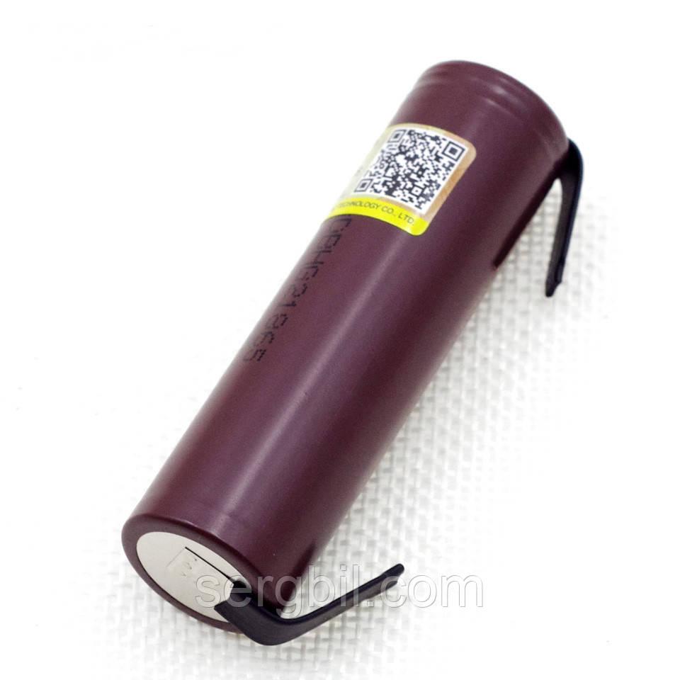 Высокотоковый аккумулятор Liitokala HG2 18650 3,7V Li-ion 3000mAh  20А никелевые полоски