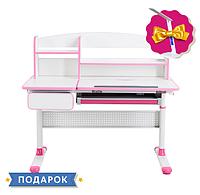 Парта трансформер растущая 103х62 см с надстройкой для детей 5 - 15+ лет ТМ Cubby Rimu Pink