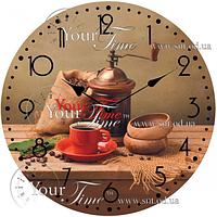 Часы настенные стекло /кругл. 28 см Кухня