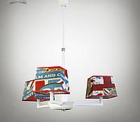 Люстра с абажурами модерн 3 ламповая