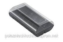 Коробка для 12 макарун 48 шт/ящ пластиковая, черный/прозрачная Silikomart