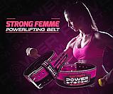 Пояс для пауерліфтингу Power System PS-3850 Strong Femme Black/Pink M, фото 4