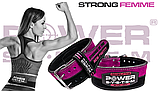 Пояс для пауерліфтингу Power System PS-3850 Strong Femme Black/Pink M, фото 5