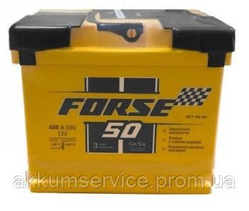 Аккумулятор автомобильный FORSE (Megatex) 50Ah R+ 480A