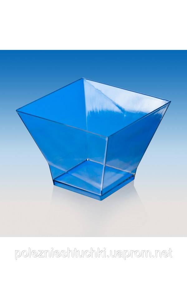 """Пиала-форма фуршетная """"Пагода-200"""" 80х80х60 мм., 200 мл. прозрачная, стеклоподобная"""