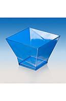 """Пиала-форма фуршетная """"Пагода-200"""" 80х80х60 мм., 200 мл. прозрачная, стеклоподобная, фото 1"""