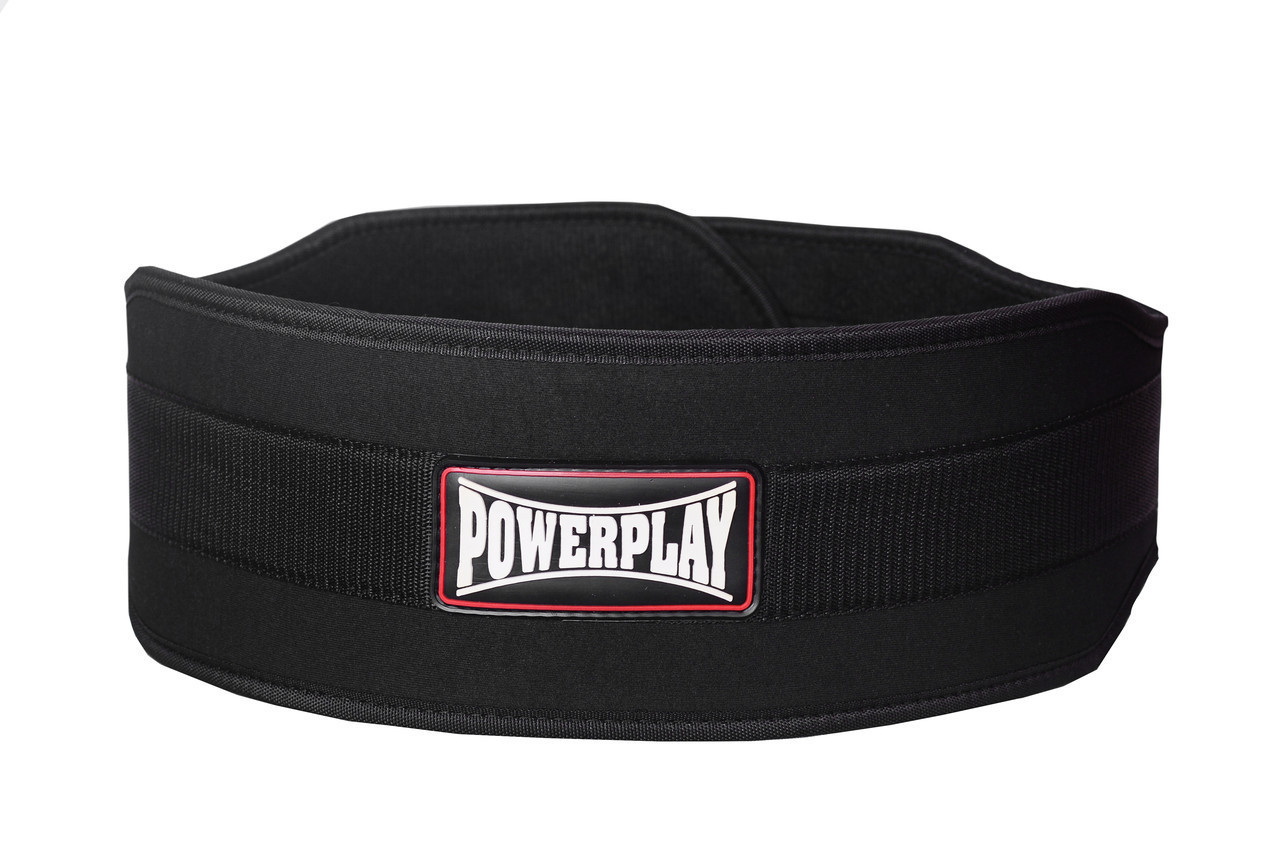 Пояс для важкої атлетики PowerPlay 5535 Чорний (Неопрен) L