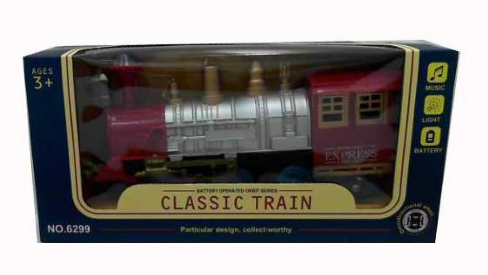 Поезд музыкальный, свет,в коробке