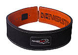 Пояс для важкої атлетики PowerPlay 5175 Чорно-Оранжевий M, фото 2