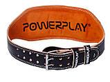 Пояс для важкої атлетики PowerPlay 5086 Чорно-Коричневий M, фото 5