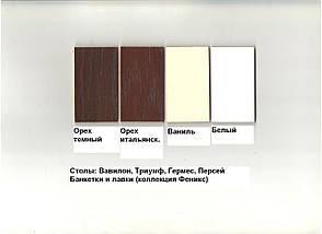 Стол кофейный деревянный с круглой столешницей Одиссей Микс мебель, цвет белый / ваниль, фото 2