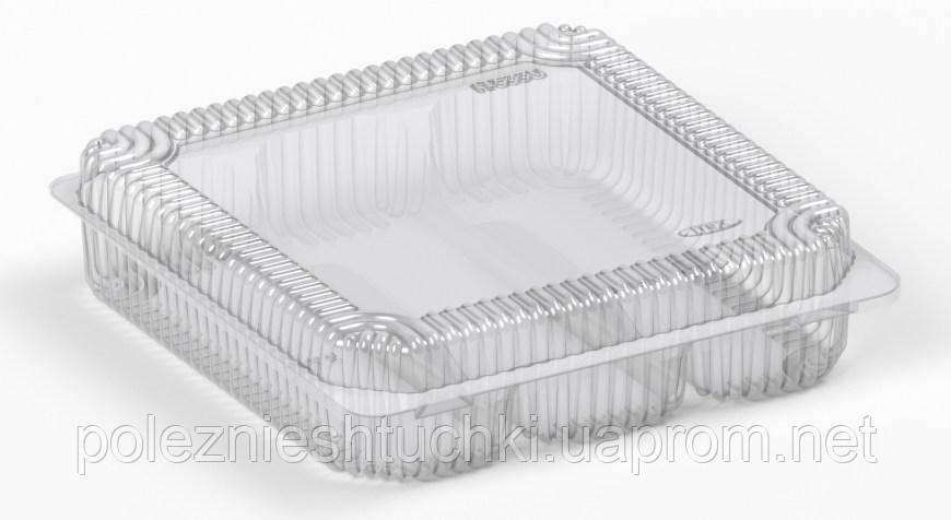 Упаковка блистерная для макарон блистерная 3 деления 18,2х18,6х4,8 см., 300 шт/уп из полистирола ITE