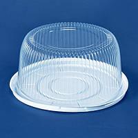 Крышка контейнера для торта ПС-25Д, 200 шт/ящ из полистирола, прозрачная ПС-25К