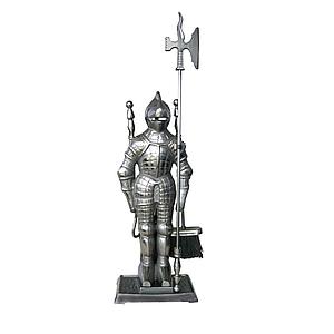Набор для камина Рыцарь 45А серебро