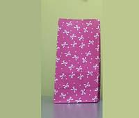 """Пакет подарочный бумажный 9,5х6,5х19 см., 70 г/м2, 100 шт/уп """"Бантик малиновый"""" без ручек, розовый к"""