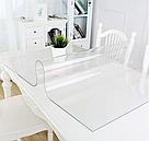 Прозрачная силиконовая скатерть на стол Soft Glass 1.0х1.9 м толщина 2 мм Мягкое стекло, фото 3
