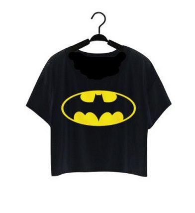 Жіноча футболка бетман, чорного кольору, розмір S