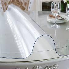 Прозрачная силиконовая скатерть на стол Soft Glass 1.0х1.9 м толщина 2 мм Мягкое стекло