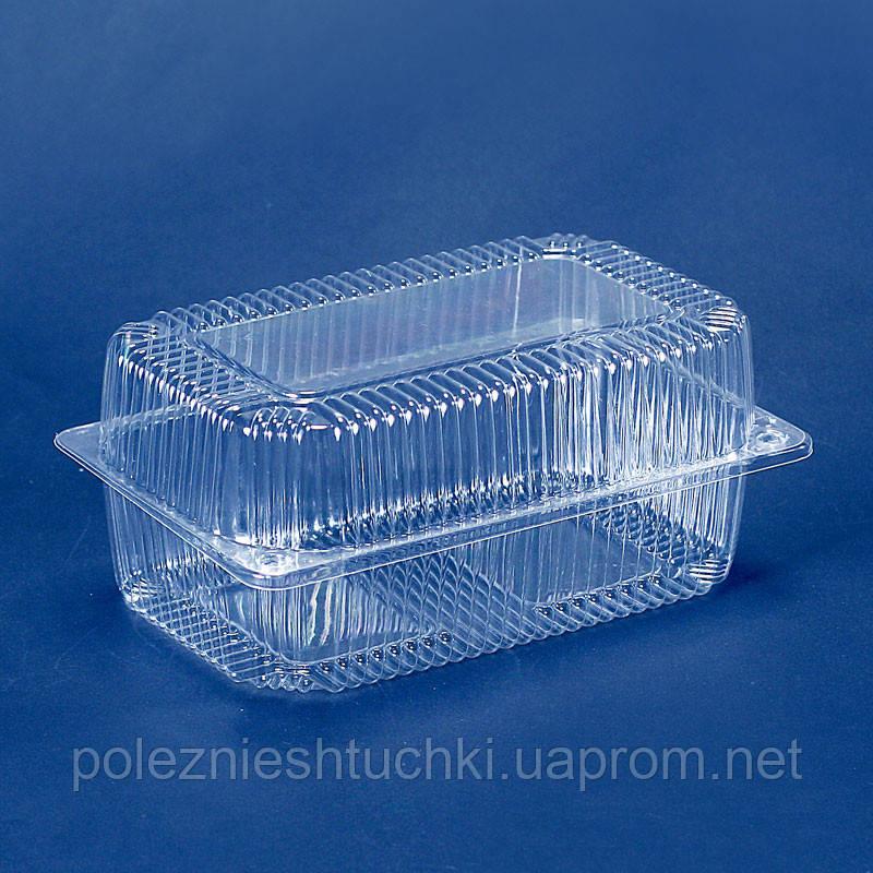 Упаковка блистерная 23х13х7,8 см., 1550 мл., 1 шт. из полистирола, одноразовая ПС-120