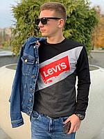 Мужской свитшот LEVI'S (черный) Размеры S, XL, XXL