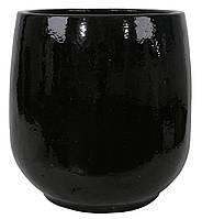 Вазон SHISHI керамічний d.68(57) h72 cм чорний