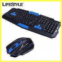 Беспроводная игровая клавиатура с мышью HK-8100, фото 1