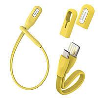 Кабель Baseus Type-C Bracelet 0.22m, Yellow (CATFH-0Y), фото 1