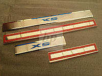Защитные хром накладки на пороги BMW X5 E70 (бмв x5 e70) 2006г-2013г