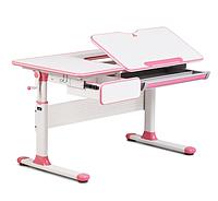Парта трансформер растущая 110х60 см с ящиками для девочки 5 - 18+ лет розовая ТМ Cubby Toru Pink