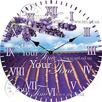 Часы настенные стекло/кругл. 28 см Специи
