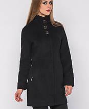 Женское черное пальто по фигуре (8587 xw), фото 2