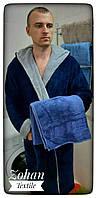 Махровый халат с бамбуковым полотенцем подарочный набор (Все размеры)  Welsoft  Турция
