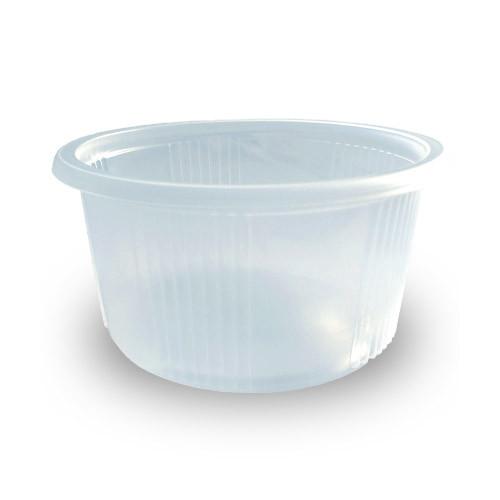 Супница пластиковая прозрачная ПП-115 Дно - 350 мл, 20 шт