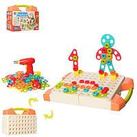 Креативная мозаика Limo Toy с инструментом 2в1 129 деталей