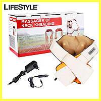 Универсальный роликовый массажер для спины и шеи Massager of Neck Kneading, фото 1