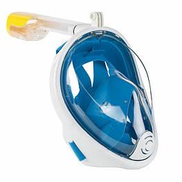 Маска для снорклинга подводная полнолицевая Free Breath Размер L/XL