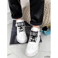 Ботинки женские модные демисезонные Loreta белые 27889