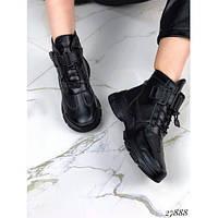 Ботинки женские модные демисезонные Loreta черные 27888