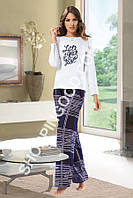 "Женская пижама Shirly 5902, домашний костюм с брюками ""Let's Go"" цена со склада"