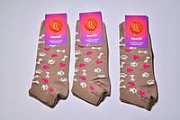 Носки короткие женские с рисунком,принтом (кости,лапы,сердце)