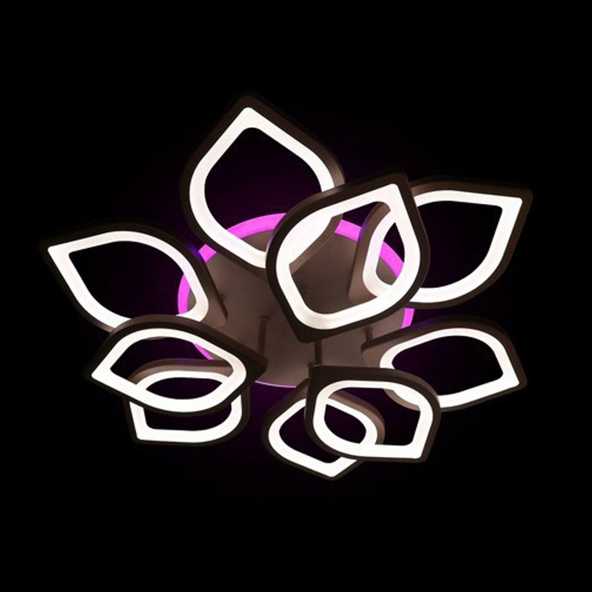 Світлодіодні люстри із пультом управління кольори білий чорний 120W Лінія сонця&5540/6+3 Led color